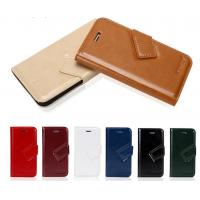 Buy cheap stand wallet leather case for iphone 5 with 3 card, oem hot selling wallet case for iphone 5 5s from wholesalers