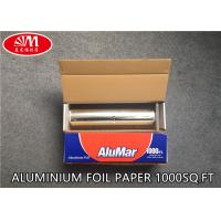 Buy cheap Catering Aluminium Foil Roll  Aluminum Foil Paper 12In X 11 Micron X 1000Ft With Metal Cutting Good Pack from wholesalers