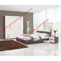 Buy cheap Budget Hotel furniture in modern deisgn by panel bed and doors wardrobe in high glossy from wholesalers