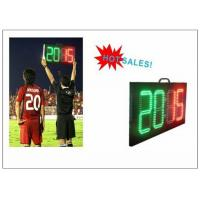 Buy cheap Digital Number 2 Color LED Soccer Substitution Board 2 Side IP62 Light Weight from wholesalers