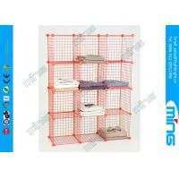 Buy cheap Red Mini Wire Display Stands Grid Panels Cube Unit for Clothing product