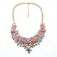 Buy cheap Fashion Jewelry Vintage Gemstone Flower Necklace from wholesalers