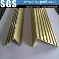 Buy cheap Decorative Copper Material L Groove Stair Nosing In Brass Profiles from wholesalers