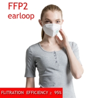 Buy cheap Disposable Dustproof Particle Filtering 5 Ply FFP2 Mask from wholesalers