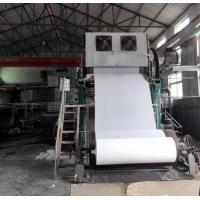 Buy cheap 1092mm Small toilet paper making machine price 2-3TPD tissue paper processing line from wholesalers