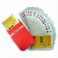 Buy cheap Customized and Advertising Playing Cards/Pokers, Available in Various Shapes and Printing Designs product