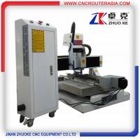 Buy cheap China small metal engraving machine with air cooling spindle,TBI ballscrew ZK from wholesalers