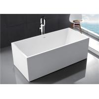 Multi Coloured Acrylic Free Standing Bathtub With Optimal Interior Space