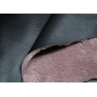 Buy cheap Coat / Boots Bonded Leather Fabric Black Surface With Pink Backing Faux Fur from wholesalers