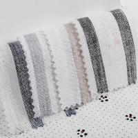 Buy cheap Yarn Dyed Stripe Linen Fabric Pure Shirting Fabric Stocklot Wholesale from wholesalers