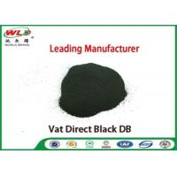 Buy cheap Vat Direct Black DB Textile Cotton Fabric Dye Chemicals Used In Textile Dyeing from wholesalers