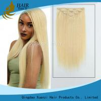 Buy cheap Real Hair Remy Clip In Hair Extensions Double Drawn Silky Straight Style from wholesalers
