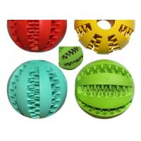 Buy cheap Multicolor TPR Recycled Dog Toys , 7.3cm Watermelon Pattern Ball Plastic Puppy Toys from wholesalers