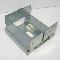 Buy cheap Galvanised Q195, Q235 Steel Post Base / Post Anchor Connector Custom Welding Fabrication from wholesalers