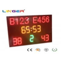 Buy cheap 1240mm x 1900mm x 100mm Led Football Scoreboard / Soccer Score Board With Led from wholesalers