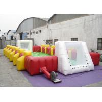 Buy cheap Commercial Large Inflatable Football Games 12.5 X 6 X 2m Enviroment - Friendly from wholesalers