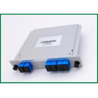 Buy cheap 2x4 CATV Links Fiber PLC Splitter Wide Operation Wavelength With SC Connectors from wholesalers