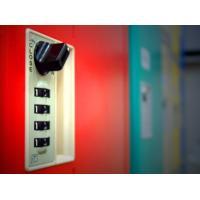 Buy cheap Factory Keyless ABS Plastic Lockers 5 Tier Red Door Changing Room Lockers product