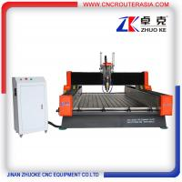 Buy cheap 4*8 feet Heavy duty Metal Wood Stone CNC Router with air cylinder ZK-1325 1300 from wholesalers