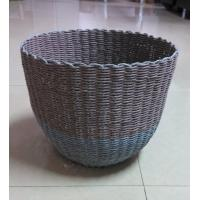 Buy cheap 100% handwoven Paper material   storage basket with round shape from wholesalers