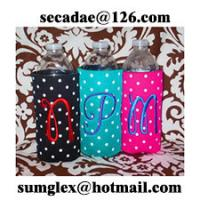 Buy cheap wine glass koozie,neoprene wine wraps,insulated bottle cooler,neoprene bottle suit from wholesalers