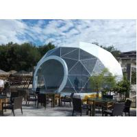 Buy cheap Geodesic PVC Heavy Duty Party Tent Steel Half Sphere Waterproof For Camping from wholesalers