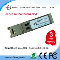 Buy cheap Small Form Pluggable module transceivers,GLC-T from wholesalers