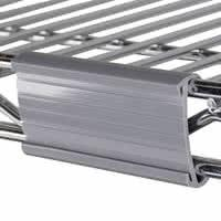 Buy cheap Plastic Label Holder Wire Shelving Parts , White Wire Shelving Accessories from wholesalers