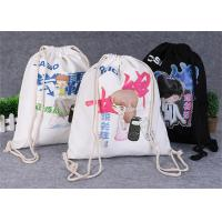 Buy cheap Promotional Travel Storage Custom Canvas Bags , Drawstring Backpack Bag from wholesalers