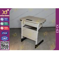Buy cheap Epoxy Powder Coated Student Desk And Chair Set , Childrens School Desk And Chair from wholesalers