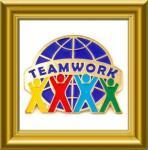 Buy cheap 2012 New Style sandblasting teamwork lapel pin badge from wholesalers