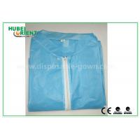 Buy cheap Colored Zip medical lab coats for Workers , lightweight lab protective clothing from wholesalers