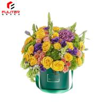 Buy cheap Homemade Gift Flower Box Round Shape Matt / Gloss Laminationg For Christmas Day from wholesalers