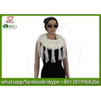 Buy cheap 320g 80*25cm 100%Acrylic Knitting white snood scarf Hot sale  factory  keep warm fashion match clothes from wholesalers