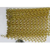 Buy cheap Gold Color Fireplace Metal Coil Drapery with Rail For Hotel Ceiling Curtain wall from wholesalers