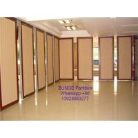 Buy cheap MDF + Aluminum Office Partition Walls / Conference Room Sliding Folding Partition from wholesalers