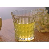 Buy cheap 200ml 7oz Clear Embossed water tumbler glass for Soft Drink , Dimond Design from wholesalers