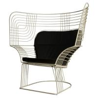 Buy cheap Outdoor Showroom Link Easy Chair Furniture With Varnished Steel Tom Dixon Design from wholesalers