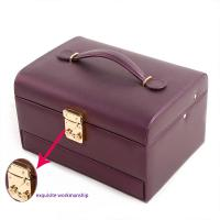 Buy cheap Handled Portable Jewelry Holder , Unique Decorative Storage Boxes Easy To Take from wholesalers
