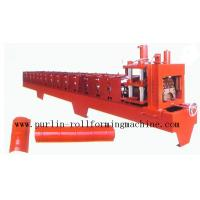 China Color Steel Roof Ridge Cap Roll Forming Machine For Theatre / Garden Roofing on sale