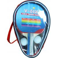 Buy cheap 3 Star Ping Pong Rackets With Carry Bag , Standard Size Packing Bulk Ping Pong Balls from wholesalers