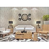 Buy cheap White Modern Wall Covering Non Woven Wallpaper Sound Absorbing With Geometric Pattern from wholesalers