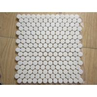 Buy cheap White Black Penny Grey Mosaic Floor Tiles , Various Patterns Stone Brick Mosaic Tiles from wholesalers
