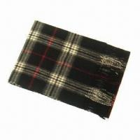 Buy cheap 100% wool/tartan scarf, available in various colors from wholesalers