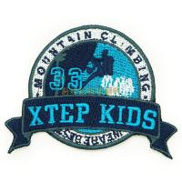 Professional Clothing Embroidered Patches / Iron On Embroidered Badges