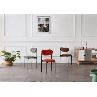 Buy cheap Stacking 43x43x79CM Sturdy Dining Room Chairs With Metal Legs from wholesalers