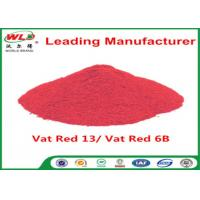 Buy cheap Indigo Clothes Dye C I Vat Red 13 Vat Dyes Red 6B Not Dissolved In Water from wholesalers