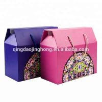 Buy cheap fruit vegetable gift color corrugated carton box with rope from wholesalers
