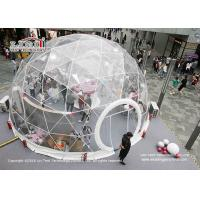 Buy cheap Clear Geodesic Dome Tents With Clear Cover For Outdoor Parties And Weddings from wholesalers