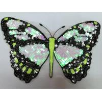Buy cheap Fabric Sequin Embroidery Butterfly Appliques Mesh For Various Dress from wholesalers